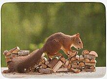 Aliyz Nussknacker Stapel von Holz Waldtieren Foto
