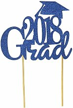 All About Details 2018 Grad Cake Topper (Blue)