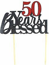 All About Details CAT50YB 50 Years Blessed Cake
