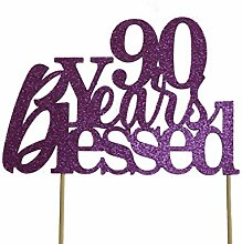 All About Details Purple 90-Years-Blessed Cake