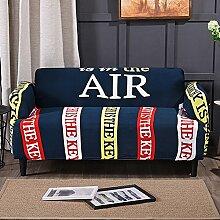All-inclusive- Sofa decken,Stretch sofa decken,Möbel protector,Volltonfarbe verdicken couch cover werfen 1,2,3,4 kissen abdeckungen-O three seats 190-230cm(75inch-90inch)