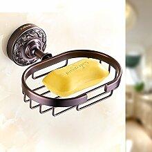 All-Kupfer Handtuchhalter/Handtuchhalter/Amerikanische schwarze Bronze Doppelregale/Antique Badezimmer Handtuchhalter-D