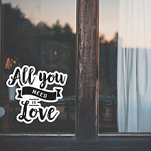 All You Need Is Love/Valentinstag Aufkleber/Lover
