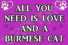All You Need Wird Mit Aufschrift Love Und Ein Teilweise - Jumbo Magnet/Jubiläum