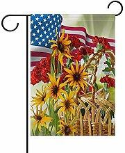 ALLdelete# Garden Flag Amerikanische Flagge und