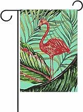 ALLdelete# Garden Flag Tropische Flamingo-und