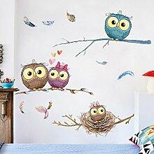 ALLDOLWEGE Cute Cartoon Sticker Schlafzimmer