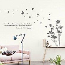 ALLDOLWEGE der Fliegende Blütenblätter Wohnzimmer Wand Aufkleber Creative Schlafzimmer Bett Wallpaper Aufkleber Freehand Sofa Hintergrund Wandaufklebern Lackiert 180*105 cm