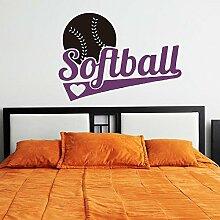 ALLDOLWEGE Softball Sport Jungen Schlafzimmer Wand