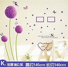 ALLDOLWEGE Wall Sticker Aufkleber Sonnenblumen Warme Romantische Zimmer Hintergrund Aufkleber Schlafzimmer Wohnzimmer Fernseher Sofa Wand Aufkleber, 11.