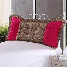 Alle Baumwolle Bett Kissen zurück Kissen auf dem Bett-D 100x40cm(39x16inch)VersionB