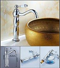 Alle bronze Blau und weiß Porzellan Retro Bad Küche Waschmaschine Countertop Waschbecken Wasserhahn, E