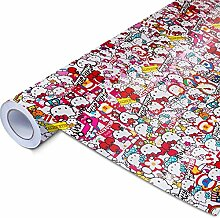 Alle Designs- alle Größen: Stickerbomb Auto Folien glänzend oder matt - Marken Sticker Bomb Logos- JDM Aufkleber (300x150cm , HK bunt glänzend)