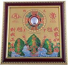 Alle-Feng Shui Talisman Rund Taoist Bagua Spiegel