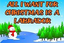 alle I Want für Weihnachten ist A Labrador Kühlschrank-Magnet Geschenk / Geschenk Welpen / Hund