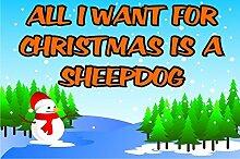 alle I Want für Weihnachten ist ein Schäferhund Kühlschrank-Magnet Geschenk / Geschenk Welpen / Hund