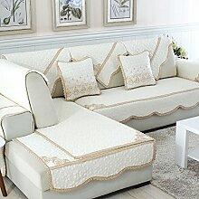 Alle Jahreszeiten Baumwolle Sofakissen/ einfaches Sofa Stoff Servietten-F 110x240cm(43x94inch)