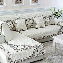 Alle Jahreszeiten Baumwolle Sofakissen/ einfaches Sofa Stoff Servietten-B 110x210cm(43x83inch)