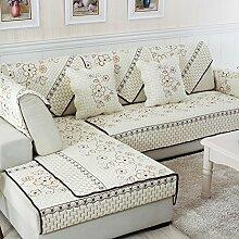 Alle Jahreszeiten Baumwolle Sofakissen/ einfaches Sofa Stoff Servietten-A 110x180cm(43x71inch)