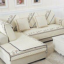 Alle Jahreszeiten Baumwolle Sofakissen/ einfaches Sofa Stoff Servietten-C 90x160cm(35x63inch)