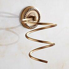 Alle Kupfer Antik - Haartrockner, Europäischen Stil Wand Hängen, Badezimmer, Regal, Spiegel - Rack, Wc, Wc - Anhänger