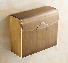 Alle Kupfer Antike Bad-Accessoires Handtuchhalter Toilettenpapierkasten