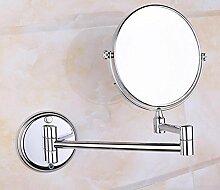 Alle Kupfer Badezimmer Wandspiegel Badezimmerspiegel Kosmetikspiegel Badezimmerspiegel Kann Dreimal Vergrößert Werden,B:8in