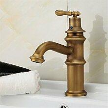 Alle Kupfer continental Wasserhahn im Waschbecken im Bad Armatur Waschbecken Wasserhahn heißen und kalten Wasserhahn alle Kupfer Wasserhahn