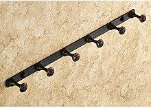 Alle Kupfer haken schwarz Kleiderhaken Haken Bad WC-Tür ( farbe : 6Black )