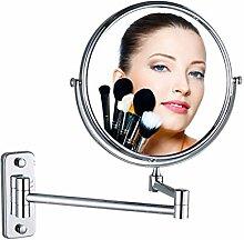 Alle Kupfer Klappspiegel/Badspiegel Teleskop Schönheit/Badezimmer-Wand-sided Vergrößerungsspiegel Dressing