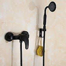 Alle Kupfer Körper schwarz im Europäischen Stil Dusche Badewanne booster Bad Armatur Dusche B