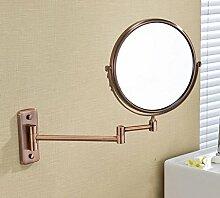 Alle Kupfer Kosmetikspiegel / Spiegel Badezimmer / Wandseitiges Falten Klappspiegel , 8