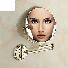 Alle Kupfer Lupe/Wand- doppelseitigen Badezimmerspiegel/Wandspiegel Teleskop Schönheit Falten
