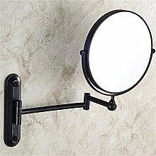Alle kupfer schwarz bronze schönheit spiegel badezimmer kosmetikspiegel Europäischen wand teleskop klapp doppelseitige spiegel vergrößerungsspiegel