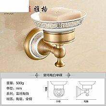 Alle Kupfer Seifenschale/Continental retro Seifenhalter/Antike Seifenschale/Toilettenseife Netzwerk-E