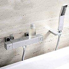 Alle Kupfer-Thermostat-Set, Dusche Thermostat Mischventil, Dusche Bad Wasserhahn ( Farbe : HP6102 )