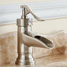 Alle Kupfer Zeichnung Waschbecken Wasserfall Wasserhahn Waschbecken Badezimmer Wasserhahn