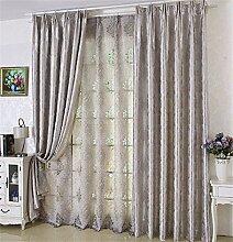 Alle Schattierung Vorhangstoff Modern Einfache Europäische Stil Wohnzimmer Schlafzimmer Fußboden zur Decke Windows Bay Fenster Verdickung Vorhang (perforiert) ( farbe : # 3 , größe : 3.0*2.7m )