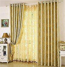 Alle Schattierung Vorhangstoff Modern Einfache Europäische Stil Wohnzimmer Schlafzimmer Fußboden zur Decke Windows Bay Fenster Verdickung Vorhang (perforiert) ( farbe : # 1 , größe : 2.5*2.2m )