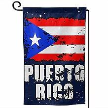AllenPrint Banner Flag,Puerto Rico Flagge Garten