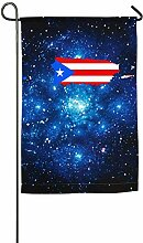 AllenPrint Family Flag,Puerto Rico Karte Flagge