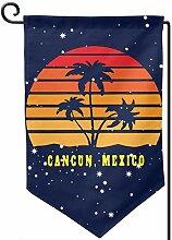 AllenPrint Flag Banner,Cancun Beach Mexiko