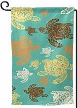 AllenPrint Flag Banner,Meeresschildkröten