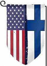AllenPrint Flag Banners,Finnland Flagge Usa Flagge