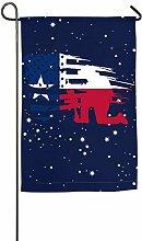 AllenPrint Garden Flags,Distressed Amerikanische