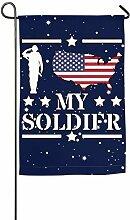 AllenPrint Garden Flags,Ich Liebe Meine Soldat