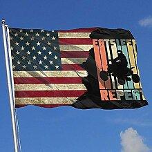 AllenPrint Home Garden Flags,Retro Essen Schlaf