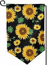 AllenPrint Home Garden Flags,Sonnenblumen Auf