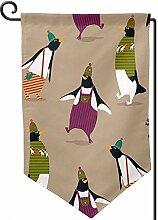 AllenPrint Home Garden Flags,Süße Tier Pinguin