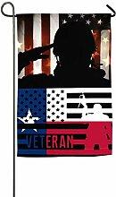 AllenPrint House Yard Flags,Veteran American Texas
